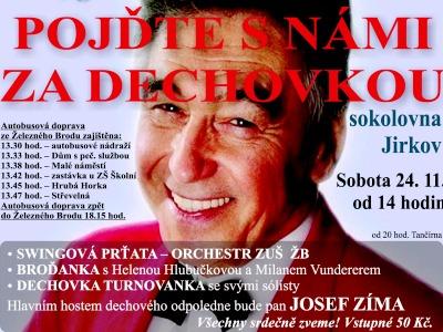 Hvězdou dechového večera v Jirkově bude Josef Zíma
