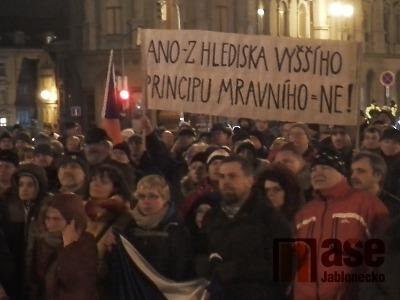 Demonstrace proti jmenování Ondráčka probíhala i v Liberci