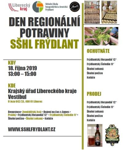 Den regionální potraviny pořádají 18. října na krajském úřadě