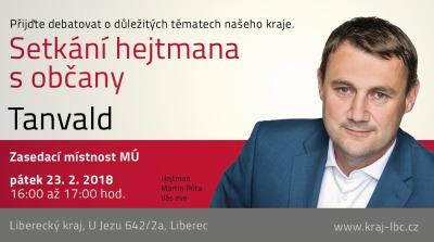 Občané Tanvaldu mohou diskutovat s hejtmanem Libereckého kraje