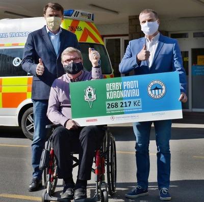 Derby proti koronaviru přineslo 268 tisíc pro krajskou nemocnici