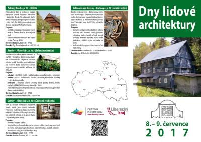 Dny lidové architektury opět přiblíží lidové stavby Libereckého kraje