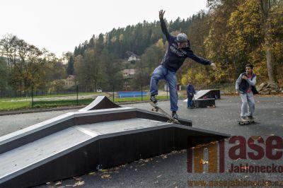 V Tanvaldě zprovoznili nový skatepark