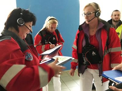 Krajští záchranáři cvičili evakuaci dispečinku
