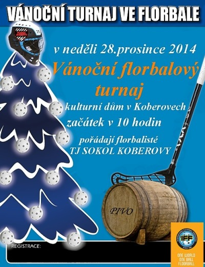 Vánoční turnaj ve florbale zažije koberovský kulturní dům