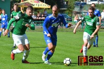 Fotbalové áčko Hamrů jasně vyhrálo v Tanvaldu nad Poříčany