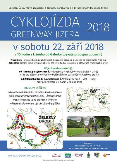Cyklojízda Greenway Jizera povede z Líšného do Železného Brodu