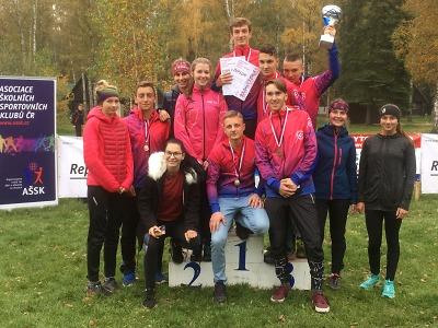 Studenti jabloneckého gymnázia mistry republiky v přespolním běhu
