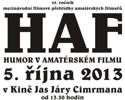 Vítězný film HAF 2013 je Dežaví po česku Jaroslava Dolečka