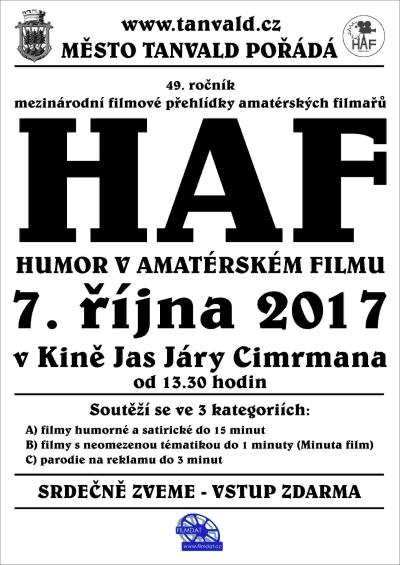 V tanvaldském kině Jas se konala přehlídka HAF 2017