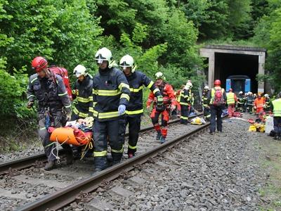 Na Semilsku vykolejil vlak, naštěstí cvičně