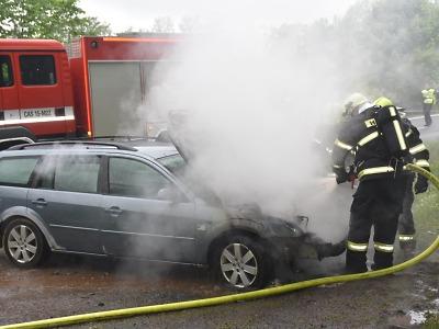 Hasiči radí, jak se zachovat při požáru dopravního prostředku