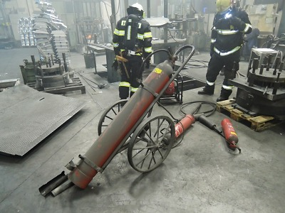 Díky včasné reakci zaměstnanců se požár v jablonecké firmě nerozšířil