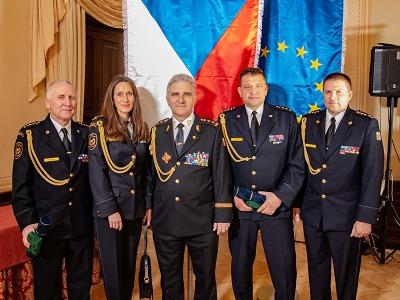 Na zámku Zbiroh předávali hasiči medaile a plakety