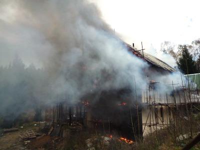Na Liberecku hořel rodinný dům, chyba při sváření přijde na 4 miliony