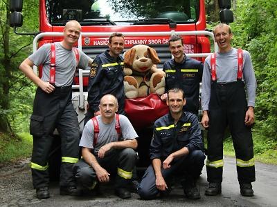 S velitelem se rozloučili hasiči z turnovské stanice výjezdem na skály