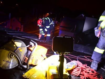 Silný vítr v noci na pondělí naplno prověřil hasiče v Libereckém kraji