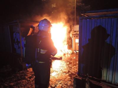 Silvestr v Libereckém kraji narušily požáry i nehody