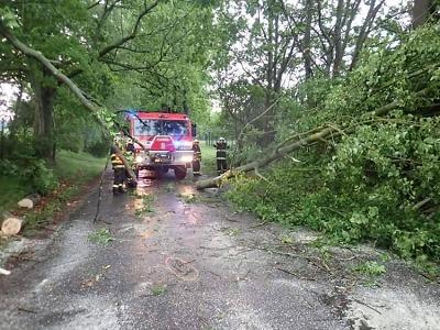 Krajští hasiči zasahují po víkendových bouřkách