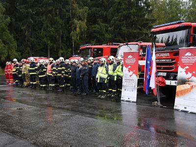 Taktické cvičení technické dovednosti hasičů proběhlo v Harrachově