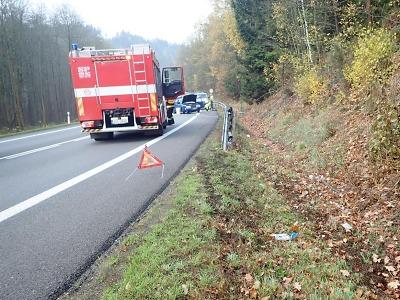 Během víkendu krajští hasiči vyjížděli k jedenácti nehodám