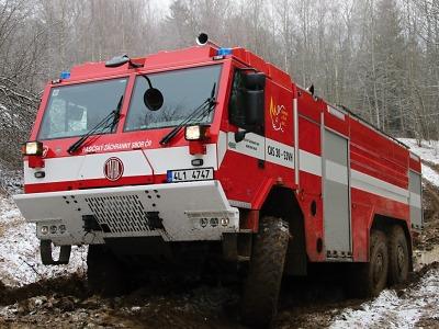 Krajští hasiči otestovali techniku ve ztížených podmínkách
