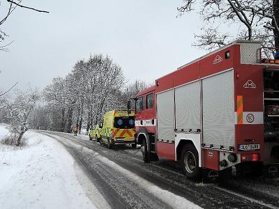 K větším dopravním nehodám došlo ve Lvové a v Paceřickém kopci