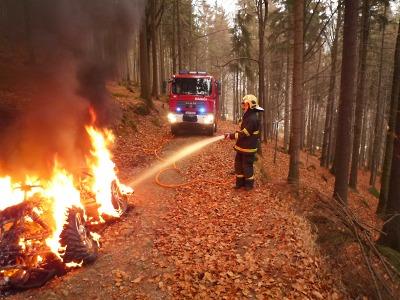 Počet zásahů hasičů v Libereckém kraji stoupl loni o 217