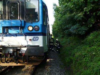 Vlak narazil před Železným Brodem do stromu