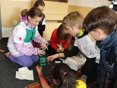 Mladí zdravotníci měřili své síly ve mšenském areálu