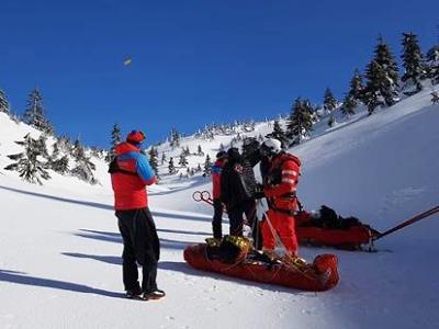 Členové horské služby zachraňovali turistu z Bílého Labe