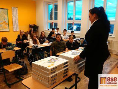 Masarykova základní škola Zásada děkuje společnosti Jablotron