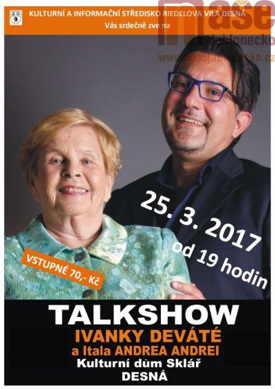 Talkshow herečky Ivanky Deváté v Desné