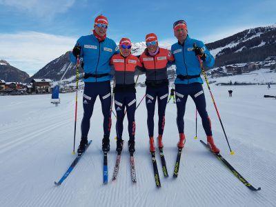 Bauer Ski Team před úvodním prologem Visma Ski Classics