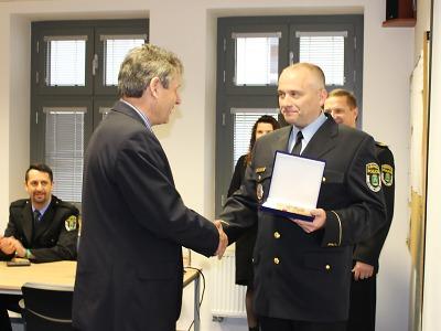 Jablonecké strážníky ocenili za dlouholetou službu
