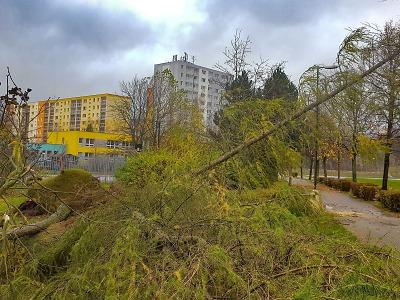 Následky větru v Jablonci naštěstí nejsou fatální