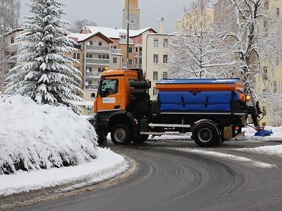 Jablonec na začátku ledna zasypal sníh