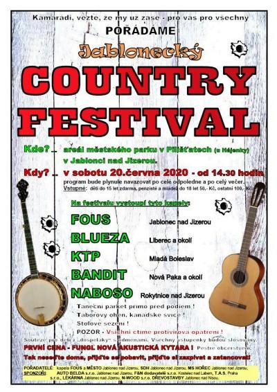 Country festival v Jablonečku znovu přivítá pět kapel