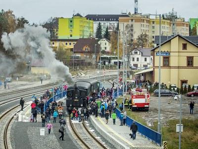 Symbolické loučení s párou v Jablonci proběhlo s lokomotivou Litovel