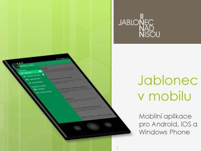 Nová mobilní aplikace má sloužit nejen Jablonečanům