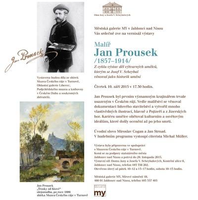 V Městské galerii MY zahájí výstavu Jana Prouska