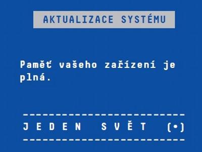 Nevypínejte počítač, aktualizujeme systém, hlásí festival Jeden svět