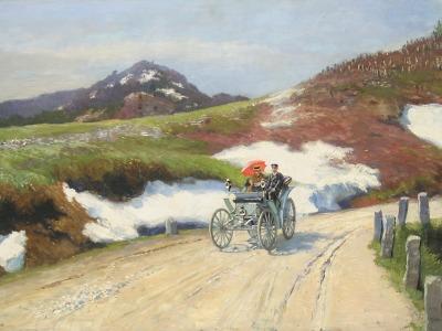 Do liberecké galerie přijede Liebieg v prvním automobilu v Čechách