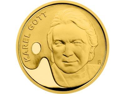Mincovna vydala druhou medaili s Karlem Gottem. Nyní je v roli malíře