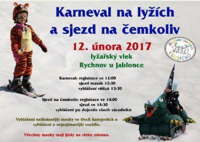 Karneval na lyžích a sjezd na čemkoliv pořádají v Rychnově