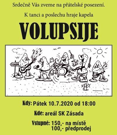 V zásadském areálu bude hrát kapela Volupsije