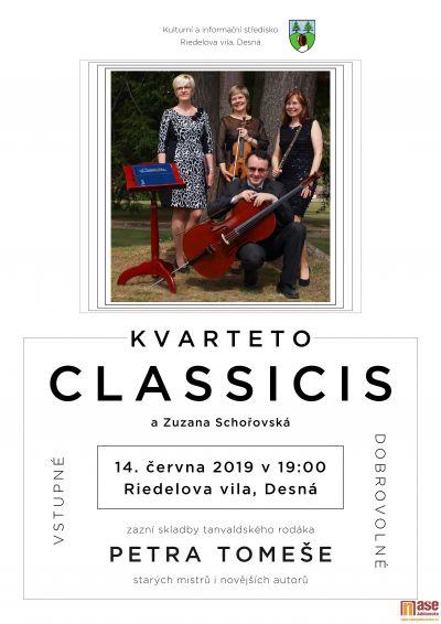 Kvarteto Classicis vystoupí v Desné