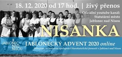 Jablonecký advent pokračuje koncertem Nisanky