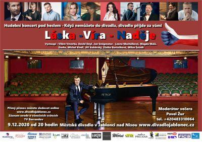 Adventní online koncert v jabloneckém divadle