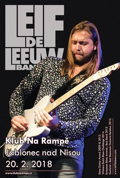 Leif de Leeuw Band zahraje v Klubu Na Rampě